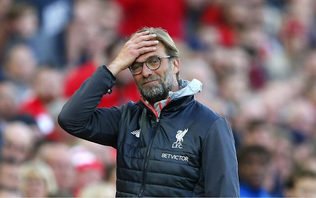 <span>JürgenKlopp and his Liverpool team face the very real threat of missing out on Champions League football next season following the latest setback at Anfield</span> <span>Credit: Rex Features </span>