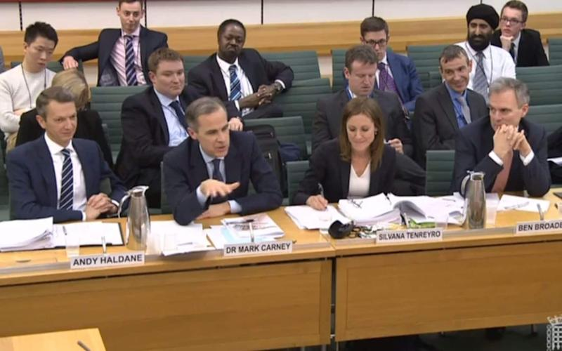 Andy Haldane, Mark Carney, Silvana Tenreyro and Ben Broadbent said wages rises and domestic inflationary pressure mean higher interest rates are needed - Parliament TV