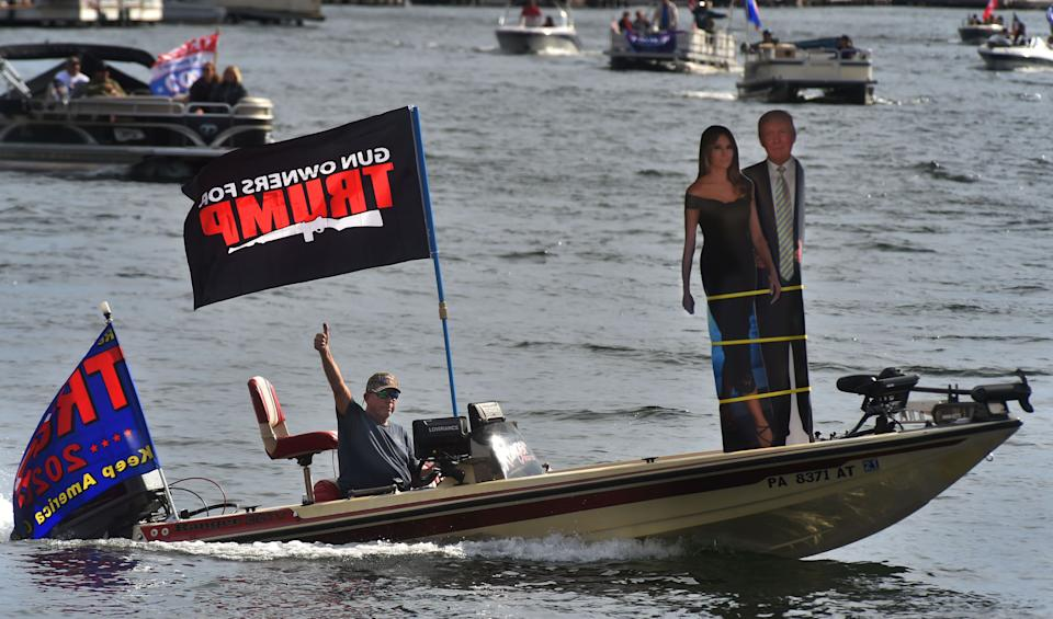 Supporters of President Donald Trump filled Harveys Lake in Luzerne County, Pennsylvania, in early October. Trump won the historically Democratic area handily in 2016. (Photo: Aimee Dilger/SOPA Images/Light Rocket/Getty Images)