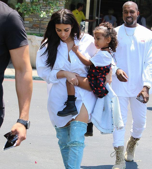 Kim has also said North is struggling to be a big sister. Source: Getty