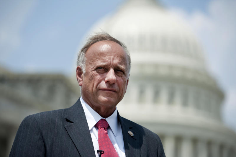Rep. Steve King (R-Iowa) on Saturday attempted to discredit Christine Blasey Ford, a 51-year-old research psychologist in Northern California who has accused Supreme Court nominee Brett Kavanaugh of sexually assaulting her around 1982. (Chris Maddaloni via Getty Images)