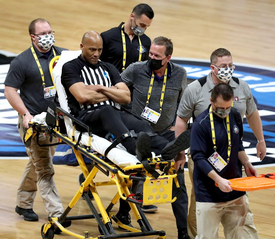Bert Smith was taken off the court on a stretcher after collapsing during the Gonzaga-USC game in the men's NCAA Tournament.