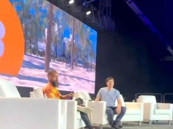 Twitter's CEO Jack Dorsey at the Bitcoin 2021 conference held in Miami (Twitter/Disclose.tv)
