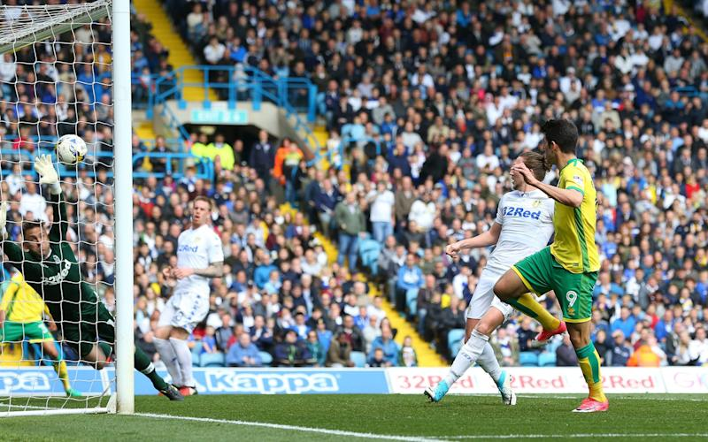 Leeds concede to Norwich in their 3-3 draw - Credit: Rex