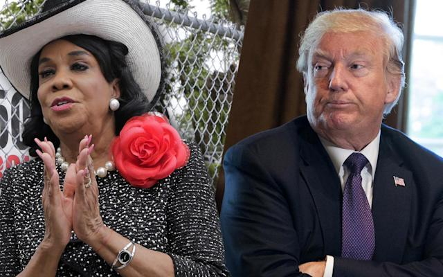 Frederica Wilson, Donald Trump. (Photo: Alan Diaz/AP, Chris Kleponis-Pool/Getty Images)