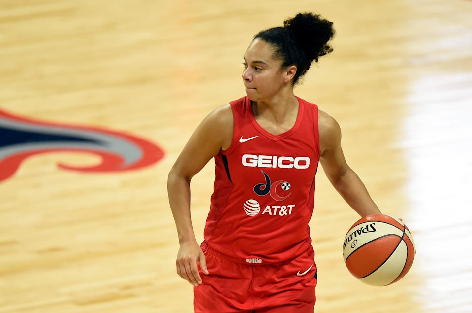 Kristi Toliver, who signed with the Los Angeles Sparks this offseason, helped lead the Washington Mystics to a title in October.