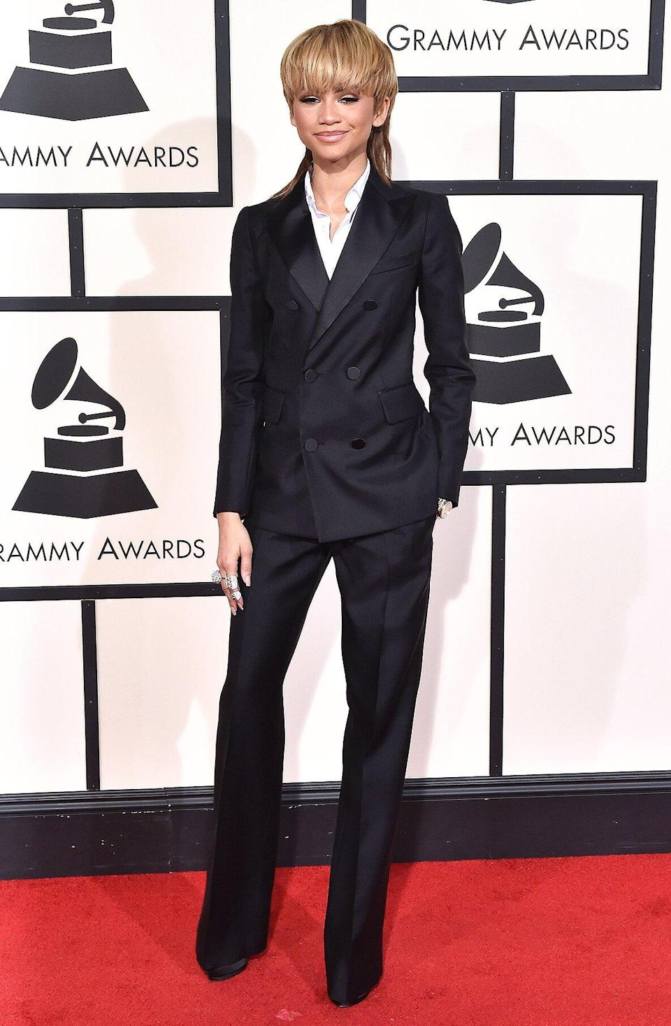 Actress/singer Zendaya arrives at The 58th GRAMMY Awards at Staples Center on February 15, 2016