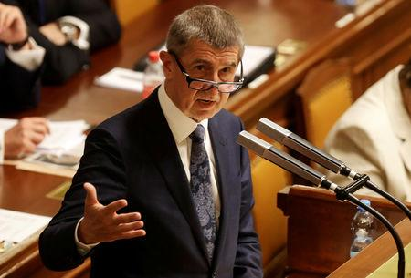 Czech Prime Minister Andrej Babis attends a parliamentary session during a no-confidence vote for the government he leads, in Prague