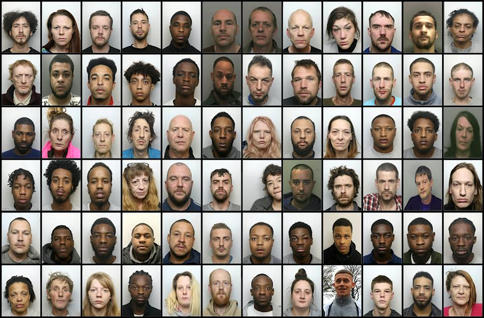 Police have secured 72 convictions as they smashed a county lines ring. (SWNS)