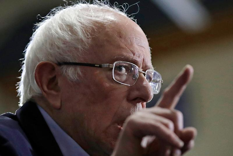 Democratic presidential candidate Sen. Bernie Sanders, I-Vt., speaks at a campaign event, Saturday, Jan. 18, 2020, in Exeter, N.H. (AP Photo/Elise Amendola)