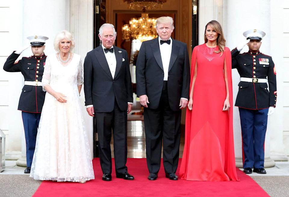 The presidential couple were joined by Prince Charles and the Duchess of Cornwall [Photo: Getty]