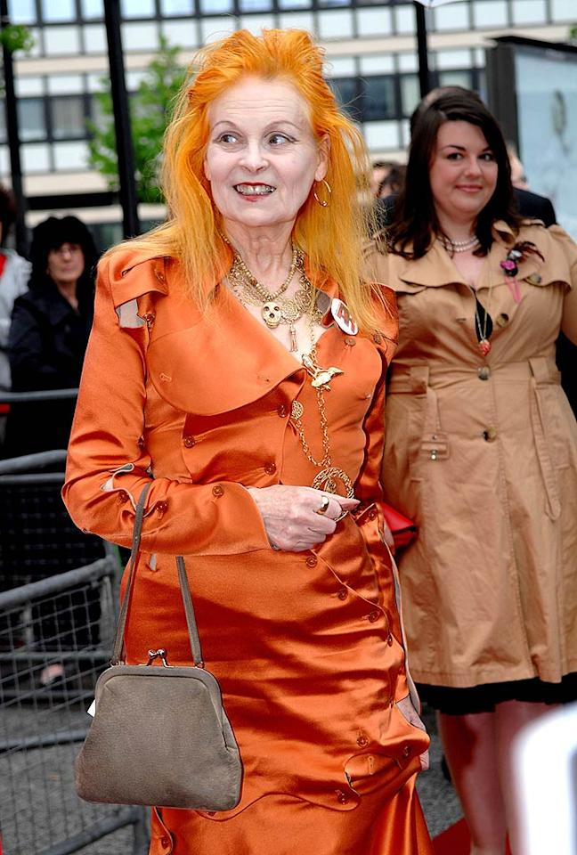 "Perhaps not all fashion designers should style themselves? Case in point: Vivienne Westwood. The eccentric Englishwoman needs immediate trips to the department store, the salon ... and the dentist. Shirlaine Forrest/<a href=""http://www.wireimage.com"" target=""new"">WireImage.com</a> - May 28, 2008"