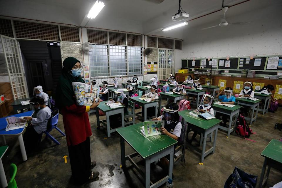 Over 10,000 schools, involving about five million students and 400,000 teachers, are set to reopen on January 20. — Picture by Sayuti Zainudin