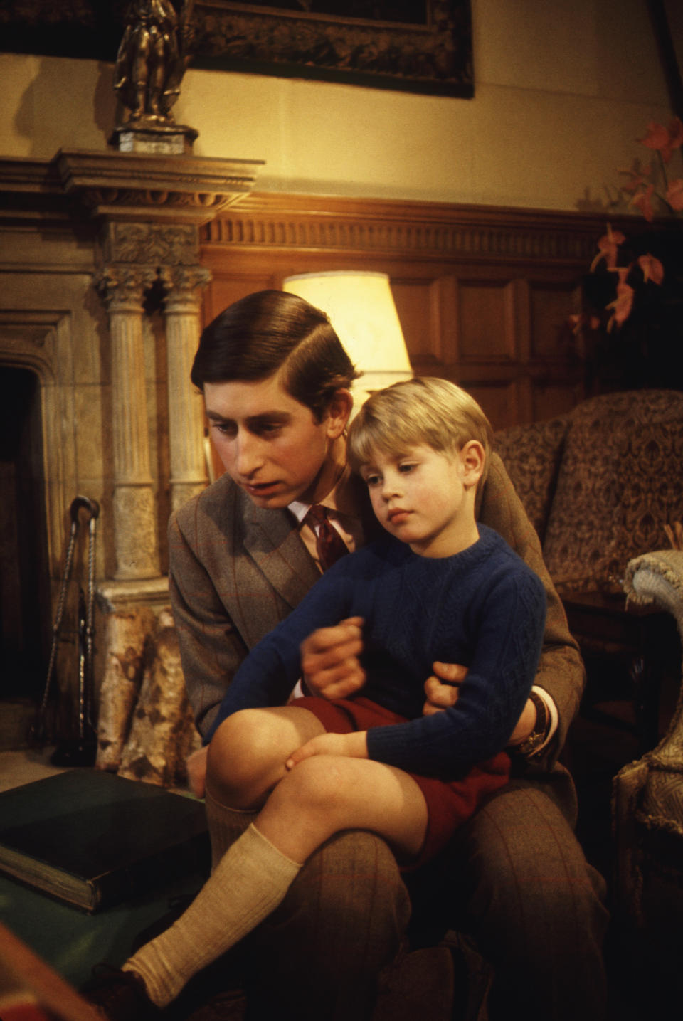 Charles, Prince of Wales, with his youngest brother Prince Edward.. (Photo by © Hulton-Deutsch Collection/CORBIS/Corbis via Getty Images)