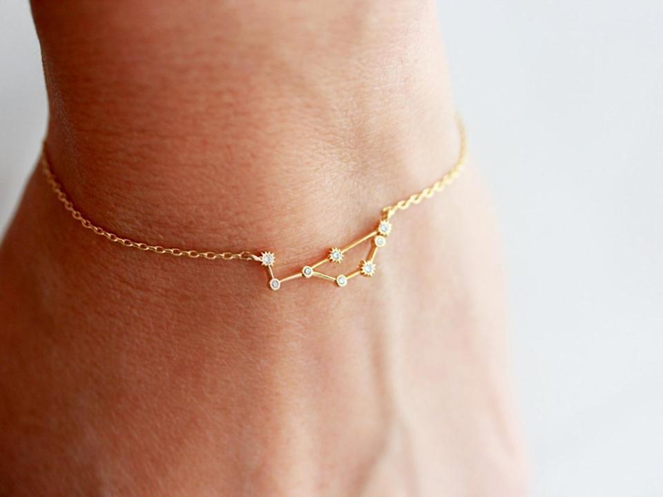 <p>The stars aligned for you to get the <span>Zodiac Bracelet</span> ($18) atrology-loving friend. It's cute, dainty, and perfect for layering.</p>