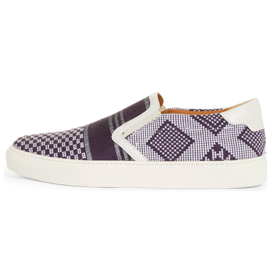 """<p><strong>Empada Slip-On Sneaker</strong></p><p>nordstrom.com</p><p><strong>$445.00</strong></p><p><a href=""""https://go.redirectingat.com?id=74968X1596630&url=https%3A%2F%2Fwww.nordstrom.com%2Fs%2Farmando-cabral-empada-slip-on-sneaker-men-nordstrom-exclusive%2F5902378&sref=https%3A%2F%2Fwww.esquire.com%2Fstyle%2Fmens-accessories%2Fadvice%2Fg2538%2Fluxury-sneaker-brands-worth-spending-money%2F"""" rel=""""nofollow noopener"""" target=""""_blank"""" data-ylk=""""slk:Shop Now"""" class=""""link rapid-noclick-resp"""">Shop Now</a></p><p>Even if you don't know Armando Cabral's name yet, there's a damn good chance you've seen his face in one of the many, <em>many</em> fashion campaigns he's starred in over the years. The model-turned-designer's eponymous footwear brand is made in Italy, but the themes—as you can see here, in this intricately patterned slip-on—are global.</p>"""