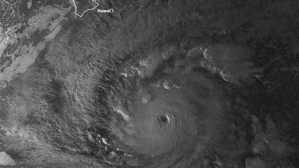 PHOTO: This NOAA image obtained shows Hurricane Lane on August 21, 2018, at 11:30GMT.Honolulu at 1500 GMT, the center said. (Jose Romero/NOAA/CIMSS/AFP/Getty Images)