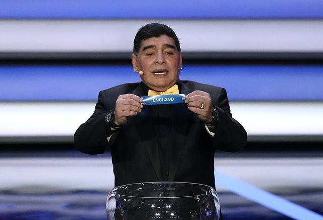 He played his part at the draw for the 2018 World Cup in Russia
