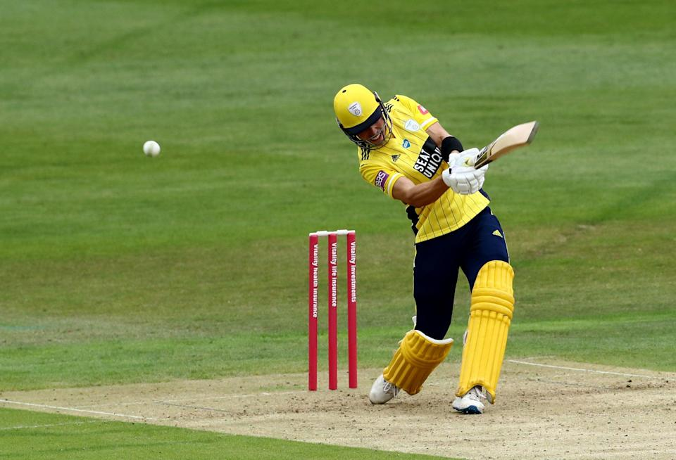 Joe Weatherley struck 43 from 13 balls as Hampshire stormed to victory over Glamorgan in the Vitality Blast (PA Archive)