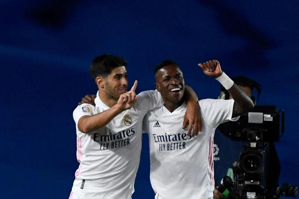 Asensio and Vinicius Jr for Real Madrid (AFP via Getty Images)
