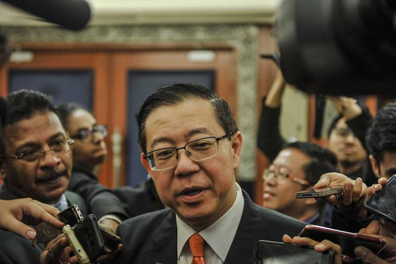 Lim assured China that the cancellation of projects did not mean Malaysia was opposed to China or its Belt and Road Initiative. ― Picture by Firdaus Latif