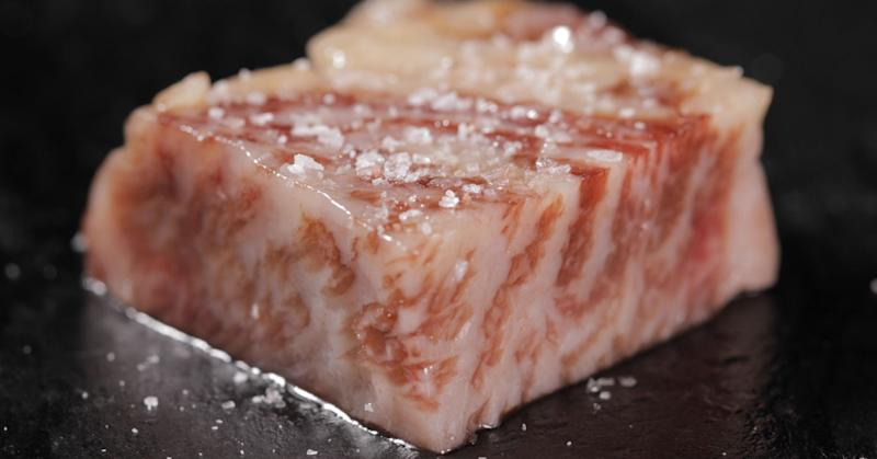 Olive Wagyu's fat content comes in at 62.5 percent and won the Best Fat Quality category at the 2017 Wagyu Olympics.