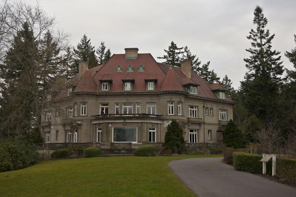"""<p>Newspaper editor <a href=""""https://portlandghosts.com/the-pittock-mansion/"""" rel=""""nofollow noopener"""" target=""""_blank"""" data-ylk=""""slk:Henry Pittock"""" class=""""link rapid-noclick-resp"""">Henry Pittock</a> and his wife Georgiana built this French Renaissance-style mansion back in 1914 in Portland, Oregon. They died a few years later, and some say their spirits still linger. After their deaths, the mansion remained in the family until it was decided that it would be sold in 1958. When a storm hit in 1962, it caused a lot of damage to the mansion. Developers wanted to demolish it, but the community stepped in to pay for its repairs and turn it into a historic site that you can <a href=""""https://pittockmansion.org/visit/"""" rel=""""nofollow noopener"""" target=""""_blank"""" data-ylk=""""slk:visit"""" class=""""link rapid-noclick-resp"""">visit</a> today.</p>"""