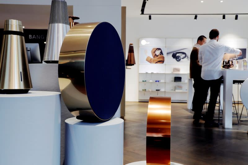 FILE PHOTO: An inside view of the Bang & Olufsen flagship store in Copenhagen