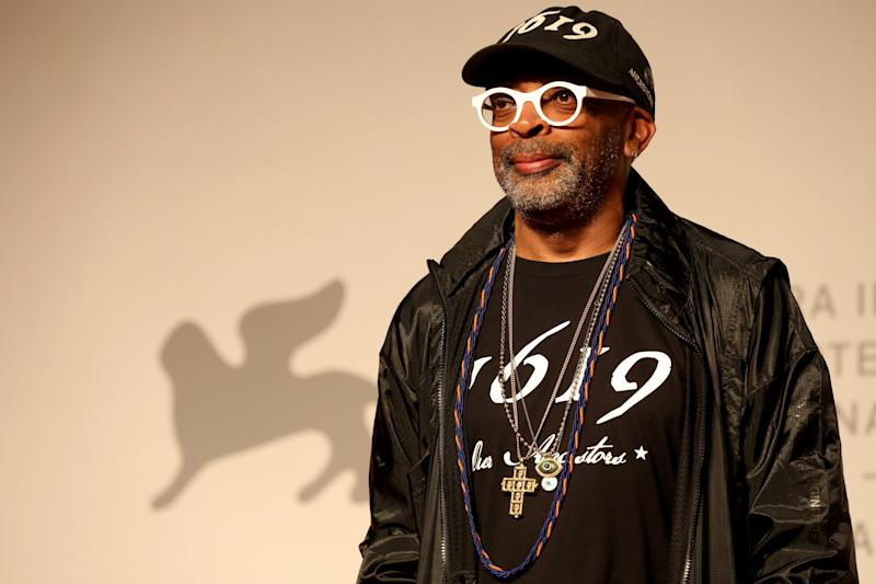 "VENICE, ITALY - SEPTEMBER 01: Spike Lee walks the red carpet ahead of the ""American Skin"" screening during the 76th Venice Film Festival at Sala Giardino on September 01, 2019 in Venice, Italy. (Photo by Tristan Fewings/Getty Images)"