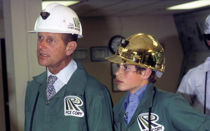 Prince Edward and his father during a visit to Canada in 1976 - Anwar Hussein/Getty Images