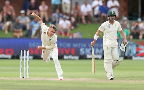Cricket - South Africa v England - Third Test - St George's Park, Port Elizabeth, South Africa - January 17, 2020 England's Sam Curran in action - Credit:  REUTERS/Siphiwe Sibeko