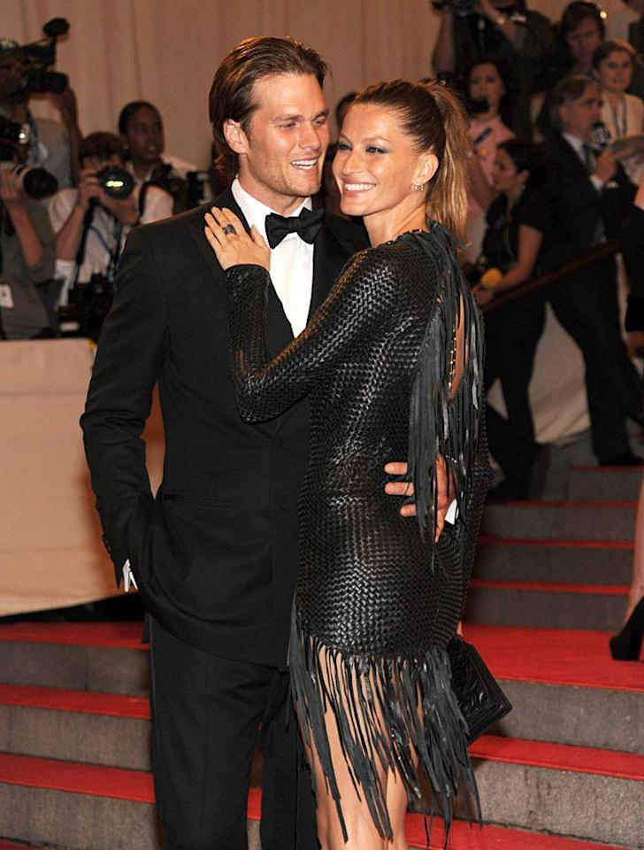 "New England Patriots quarterback Tom Brady and his supermodel wife Gisele Bundchen put their superior genes to good use when they produced a gorgeous little boy, Benjamin, last December. Kevin Mazur/<a href=""http://www.wireimage.com"" target=""new"">WireImage.com</a> - May 3, 2010"