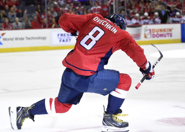"<a class=""link rapid-noclick-resp"" href=""/nhl/players/3637/"" data-ylk=""slk:Alex Ovechkin"">Alex Ovechkin</a>. (AP Photo/Nick Wass)"