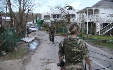 relief operation in Anguilla - Credit: Royal Logistics Corps