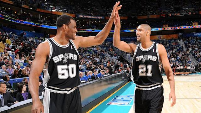 David Robinson and Tim Duncan won two titles together. (Getty Images)