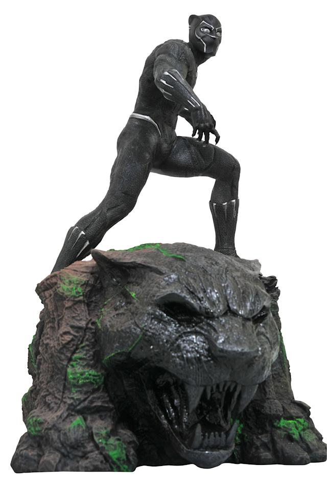 <p>Black Panther roars in this handsome 14-inch statue, also sculpted by Rocco Tartamella, $250 (Photo: Diamond Select Toys) </p>