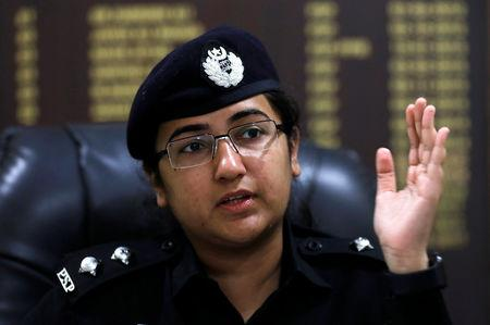 Suhai Aziz Talpur, officer of Assistant Superintendent of Police, gestures during an interview with Reuters at her office in Karachi, Pakistan November 24, 2018. REUTERS/Akhtar Soomro