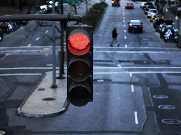 Stock photo of red light