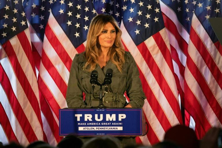 First Lady Melania Trump hit the campaign trail in Pennsylvania for her husband, a week before Election Day
