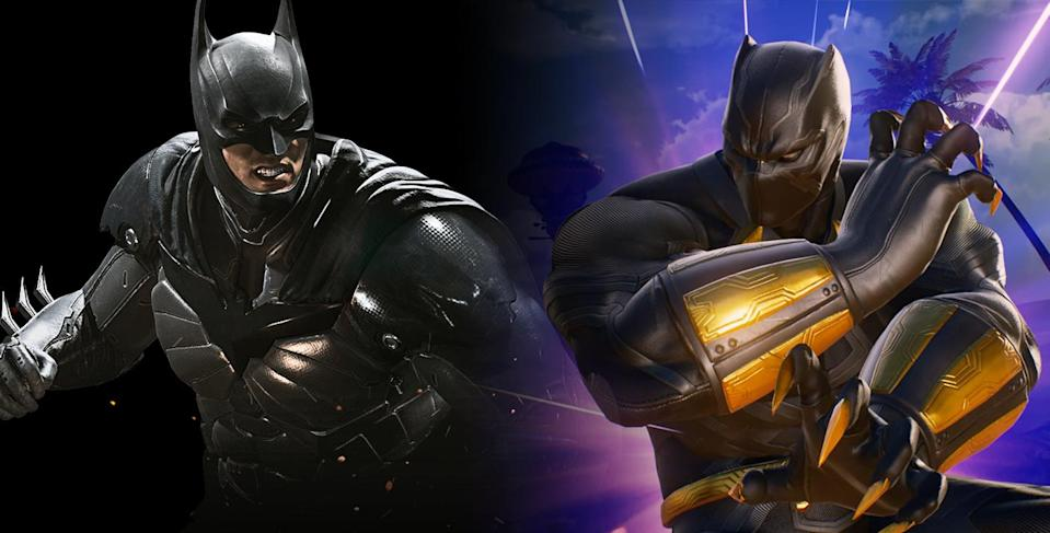 """<p>Whether your flavor is DC or Marvel, take the eternal """"who would win"""" battle from the schoolyard to your console with these fighting games that pit comic titans against each other. <em>Injustice 2</em> includes <em>Justice League</em>rs like Batman, Superman, and Wonder Woman, as well as non-DC characters like Hellboy and Teenage Mutant Ninja Turtles, while <em>Marvel vs. Capcom: Infinite</em> features all your fave Avengers alongside the stars of such video games as <em>Street Fighter, Ghost 'n Goblins</em>, and <em>Dead Rising</em>. Get ready to rumble!<br>Buy: <strong><a href=""""https://www.amazon.com/s/ref=nb_sb_noss_2?url=search-alias%3Dvideogames&field-keywords=injustice+2&rh=n%3A468642%2Ck%3Ainjustice+2"""" rel=""""nofollow noopener"""" target=""""_blank"""" data-ylk=""""slk:Injustice 2/Amazon"""" class=""""link rapid-noclick-resp""""><em>Injustice 2</em>/Amazon</a>   <a href=""""https://www.amazon.com/s/ref=nb_sb_ss_i_1_7?url=search-alias%3Dvideogames&field-keywords=marvel+vs+capcom+infinite&sprefix=marvel+%2Cvideogames%2C232&crid=3D4VKTMBATXPU"""" rel=""""nofollow noopener"""" target=""""_blank"""" data-ylk=""""slk:MvC: Infinite/Amazon"""" class=""""link rapid-noclick-resp""""><em>MvC: Infinite</em>/Amazon</a></strong> </p>"""