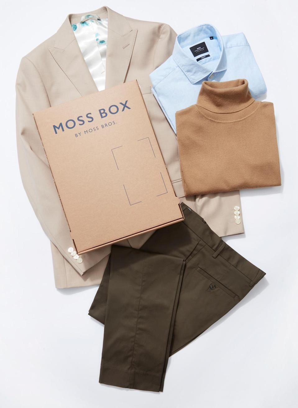 The 'Moss Box' will allow customers to choose two items and make unlimited swaps (Moss Bros/PA)