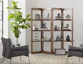 <p>You can't go wrong with this stylish <span>Martin Furniture Woodford Solid Wood Bookcase</span> ($384). You can store your favorite books, office essentials, plants, and other decor finds on this four-tiered shelf.</p>