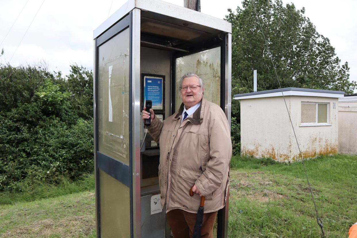 Ken Ingleton, chairman of Minster parish council, wants the phone box near the White House restaurant in Minster to be retained for emergency calls.