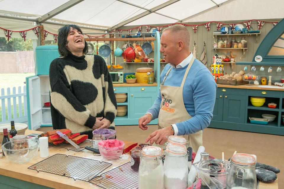 Rob Rinder confessed his love of trashy novels on 'The Great Stand Up To Cancer Bake Off'. (Mark Bourdillon/Channel 4)