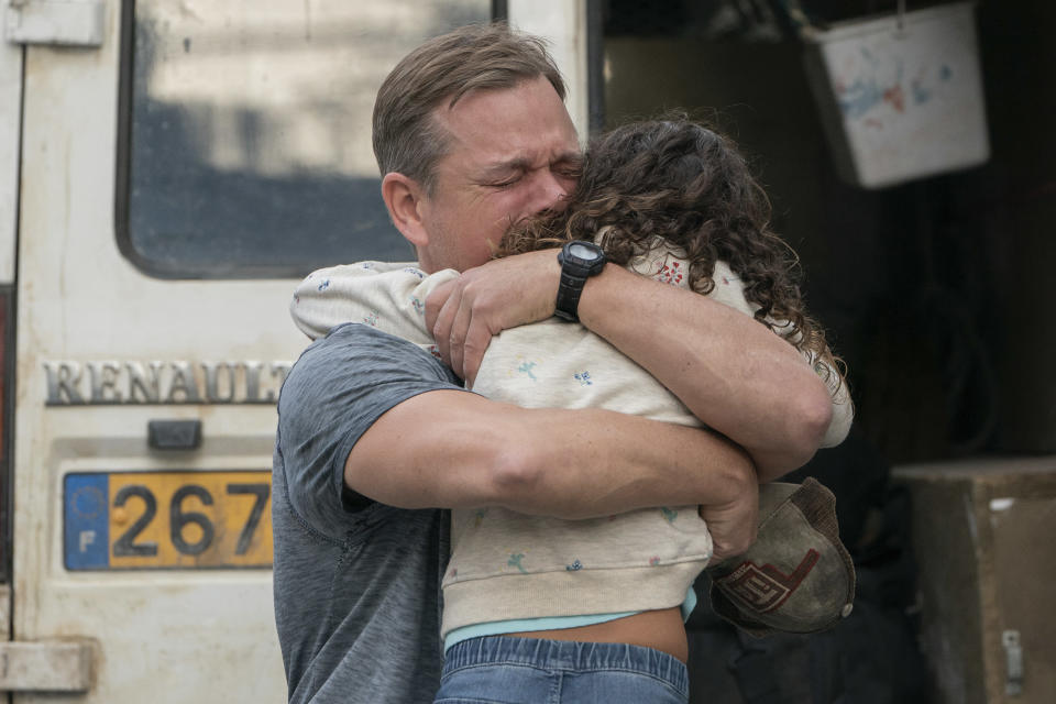 """This image released by Focus Features shows Matt Damon, left, and Lilou Siauvaud in a scene from """"Stillwater."""" (Jessica Forde/Focus Features via AP)"""