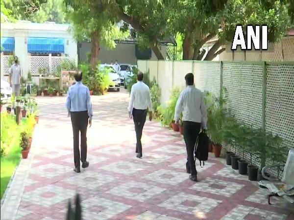 Officials reach residence of Union Power Minister (Photo/ANI)