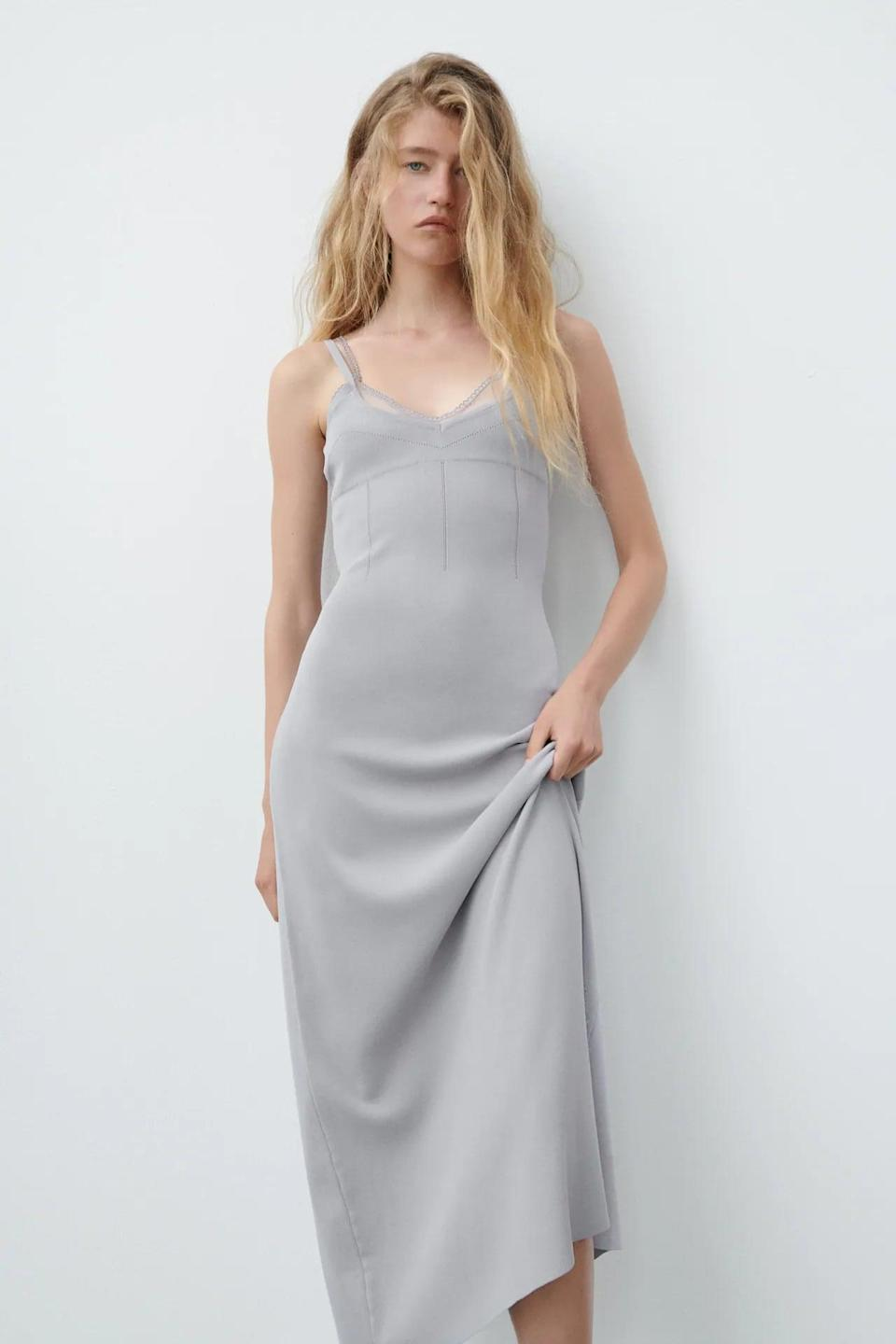 <p>The simplicity of this <span>Combination Knit Dress</span> ($70) makes it endlessly wearable. The knit fabric and refined silhouette make for a figure-skimming style.</p>
