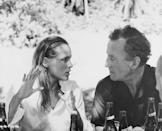 <p>James Bond creator Ian Fleming chats with actress Ursula Andress between scenes of Dr. No.</p>