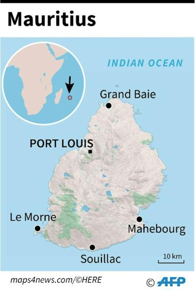 Map locating the island of Mauritius. (AFP Photo/Anne-Sophie THILL)