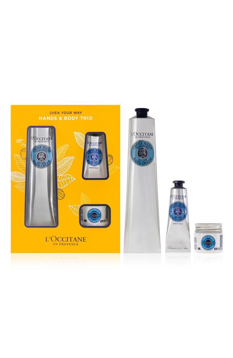 """<h2>L'Occitane Shea Butter Hand Cream Set 36% Off<br></h2><br>""""2020 introduced excessive hand washing, harsh hand sanitizer, and now, the overwhelming need for a hand cream that actually works. With fall and winter on the way, I'm stocking up now."""" <em>– Alexandra Polk, Associate Lifestyle Market Writer</em><br><br><strong><em>Next Best Deal:</em></strong><em> Since L'Occitane Shea Butter Hand Cream Set is sold out, try this still-in-stock <a href=""""https://www.nordstrom.com/s/loccitane-full-size-lavender-hand-wash-hand-lotion-set-53-value/5912400"""" rel=""""nofollow noopener"""" target=""""_blank"""" data-ylk=""""slk:Full-Size Lavender Hand Wash & Hand Lotion Set"""" class=""""link rapid-noclick-resp"""">Full-Size Lavender Hand Wash & Hand Lotion Set</a></em> <em>instead!</em><br><br><em>Shop</em> <a href=""""https://www.nordstrom.com/brands/loccitane--4249"""" rel=""""nofollow noopener"""" target=""""_blank"""" data-ylk=""""slk:L'Occitane"""" class=""""link rapid-noclick-resp""""><strong><em>L'Occitane</em></strong></a> <br><br><strong>L'Occitane</strong> Shea Butter Hand Cream Set, $, available at <a href=""""https://go.skimresources.com/?id=30283X879131&url=https%3A%2F%2Fwww.nordstrom.com%2Fs%2Floccitane-shea-butter-hand-cream-set-59-value%2F5912387"""" rel=""""nofollow noopener"""" target=""""_blank"""" data-ylk=""""slk:Nordstrom"""" class=""""link rapid-noclick-resp"""">Nordstrom</a>"""